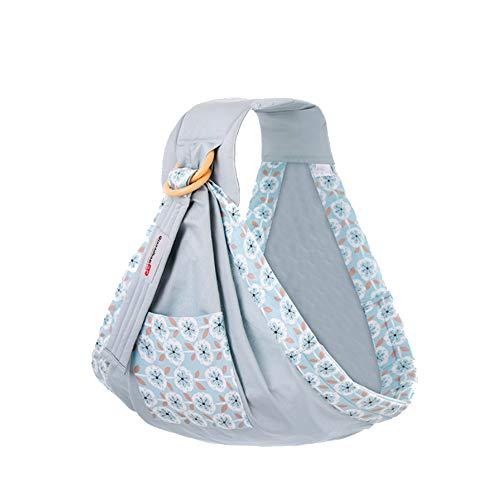 NROCF Baby Ring Sling, Geburt Bis 3 Jahre Stillen, Leichte Und Starke Nylonringe, Baby Shower Geschenk,Blue