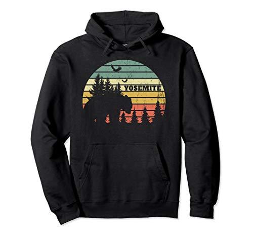 Vintage Yosemite souvenir retro sunset camping Pullover Hoodie