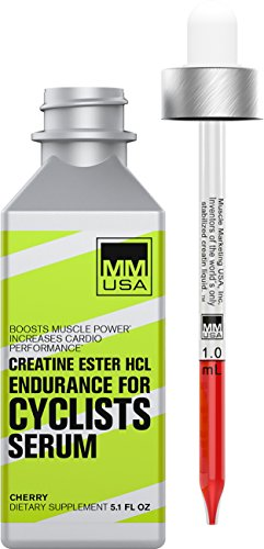 Endurance Cyclists Creatine Serum| Boosts Cycling Power, Core Strength, Stable Creatine HCL. Defeats Lactic Acid, Energy + Power. No Water Gains. With Guarana, L-Carnitine, Rhodiola Rosea + Green Tea.