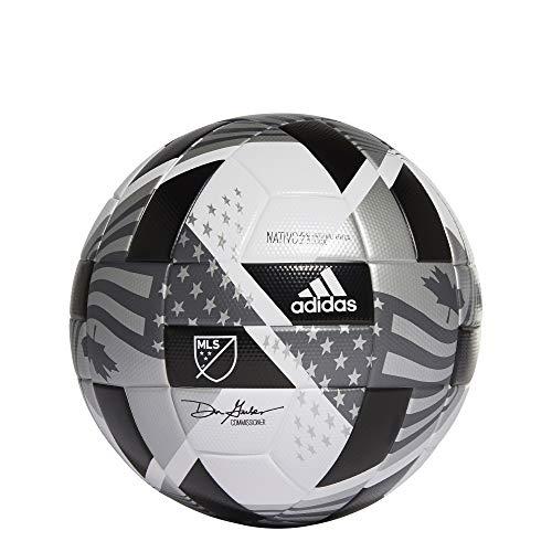 adidas MLS Club NFHS Soccer Ball,White/Black/Iron...