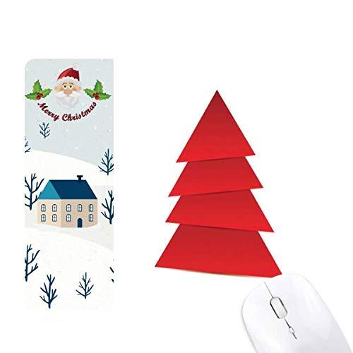 Resumen Árbol de Navidad Patrón de Origami Santa Claus Casa Mouse Pad Regalo