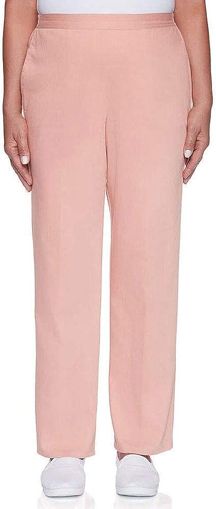 Alfred Dunner Women's Pearls of Wisdom Colored Denim Pants - Medium Length