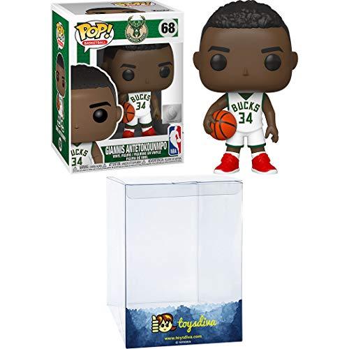 Funko Giann est Antetokounm po [Buck s] Pop!  Pack de figurines sportives en vinyle avec 1 protecteur graphique ToysDiva compatible (068 - 46632 - B)