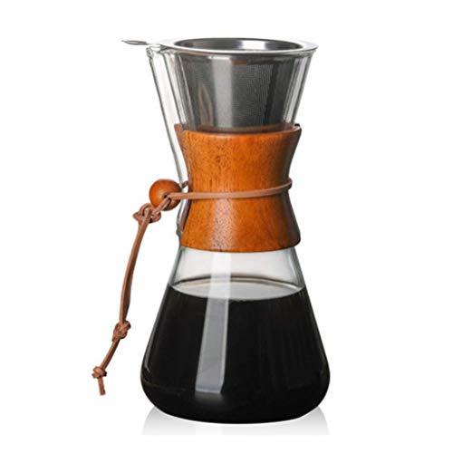 PXX Manual Coffee Grinder-Llene Café/Brewer. Juego de Filtros de Café de la Máquina/Conjunto de Jarro con el Pote de 600 Ml Portátil