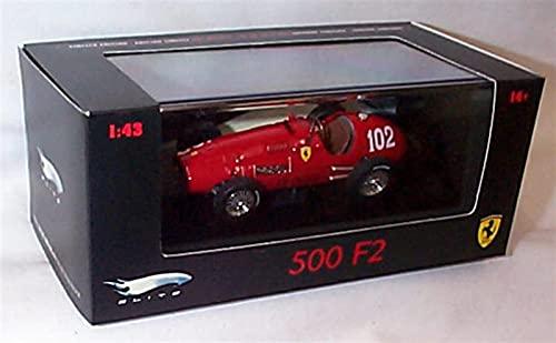 spining Hotwheels Ferrari 500 F2 A.Ascari No. 102 Fórmula 1952 Coche 1.43 Scale Edición Limitada Diecast Modelo