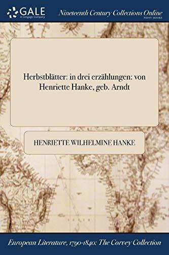 Hanke, H: Herbstblatter