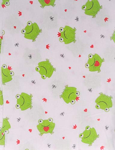 La Bortini Flanell Baumwolle L x B 100x160cm Flanellstoff Bettwäsche Babybekleidung Decke Meterware (2)