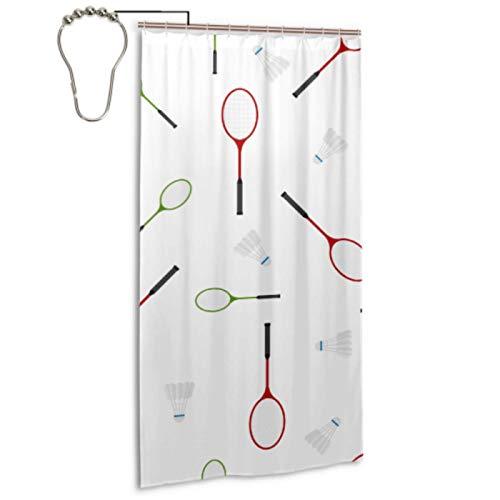 Raqueta de bádminton y raqueta de tenis Forro de cortina de ducha de 36 x 72 con 12 ganchos Forro de cortina de ducha de 36 x 72 Cortina de ducha decorativa impermeable lavable a máquina para el baño