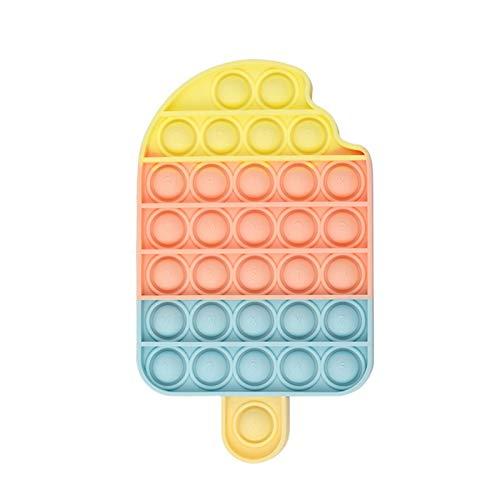 Wangduodu Juguete Sensorial Pop-it, Silicona Sensorial Fidget Juguete, PU-SH Pop Bubble Sensory Toy, Autismo Necesidades Especiales Aliviador del Antiestrés del Juguetes para Niños Adultos Relajarse