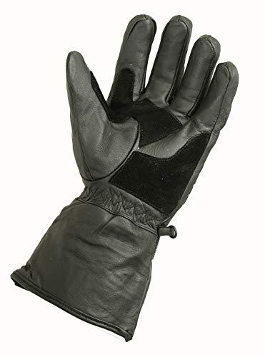Winter Leder Motorrad Handschuhe Reflektierendes Wasserfest Gepolstert Thermo – XL - 2