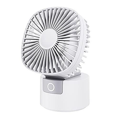 Ventilador De Escritorio, 2 En 1 Ventilador Personal Portátil De Mano Plegable De 180 ° Ventilador De Escritorio USB Recargable De 3 Velocidades Mini Ventilador De Escritorio Con Oscilación De 60 °