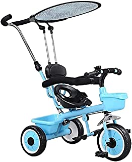 Children's tricycle baby bicycle stroller bike infant bike child tricycle kid toy car stroller (Color : Blue) JB-Tong