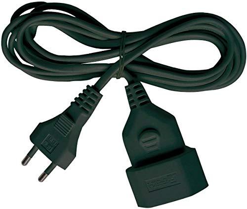 Brennenstuhl cable alargador de corriente de enchufe plano tipo euro (enchufe europeo, para interiores, cable plano de 3m) negro