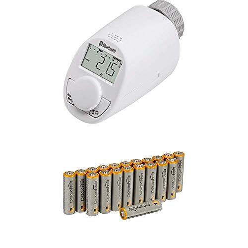 Eqiva Bluetooth® Smart Heizkörperthermostat, 141771E0 mit Amazon Basics Batterien