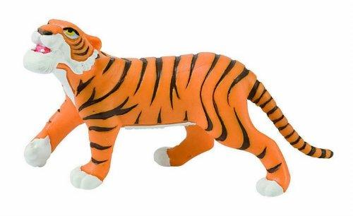 Bullyland 12376 - Spielfigur, Walt Disney Dschungelbuch, Shir Khan, ca. 9,5 cm groß, liebevoll handbemalte Figur, PVC-frei, tolles Geschenk für Jungen und Mädchen zum fantasievollen Spielen