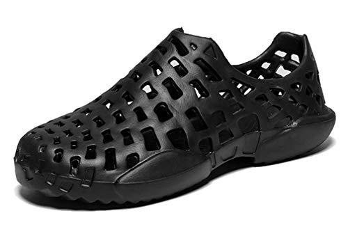 [Femaroly] 夏のカップルノンスリップサンダル巣穴の靴屋外ビーチ靴黒24.5cm