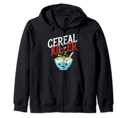 Cereal Killer I Disfraz de Cereal Cereal Fiesta de Halloween Sudadera con Capucha