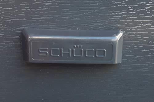 SCHÜCO- Wasserschlitzkappen, Anthrazitgrau, Lieferumfang 25 Stück