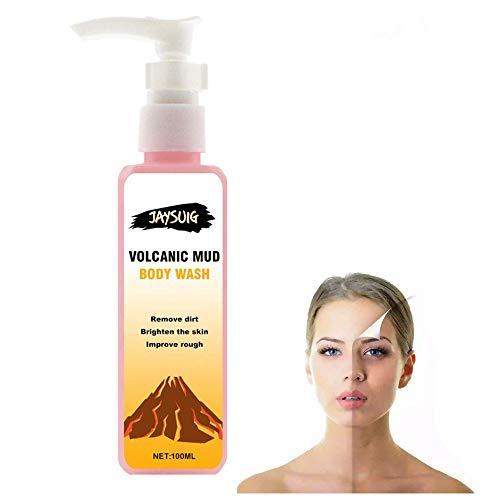Gel de ducha de barro volcánico, loción corporal blanqueadora, control del aceite nutritivo, limpieza profunda de los poros para mujeres, limpieza corporal (100ml)