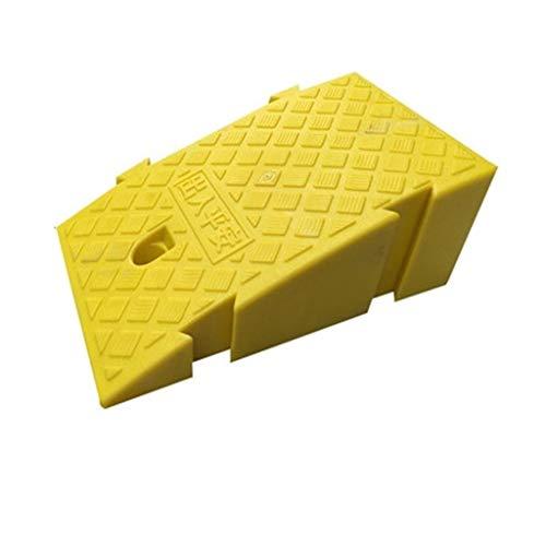 CSQ-Ramps Elektrische rolstoel Ramps, Scooter Ramps Multi-size driehoekige Oprijplaten Small afrijkleppen/Kunststof Curb Ramps (Color : Yellow, Size : 25 * 40 * 16cm)
