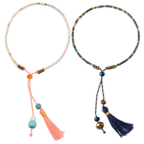 KELITCH 2Pcs Perle Miyuki Perlen Strang Armbänder Handgemachte Boho Frauen Freundschaft Armbänder Neue Perle Armbänder