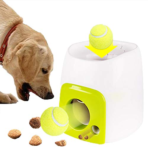 Automatic Tennis Ball Launcher for Dogs Interactive Fetch Toy Machine, Automatic Dog Ball Thrower Launcher, Pet Companion Tennis Ball Throwing Machine Indoor & Outdoor