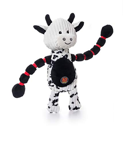 Charming Pet Thunda Tugga Cow Plush & Squeaky Dog Tug Toy