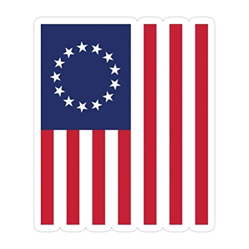 DKISEE 3 pegatinas troqueladas de 1776 con diseño de bandera americana de 10,16 cm para laptop, ventana, coche, parachoques, botella de agua