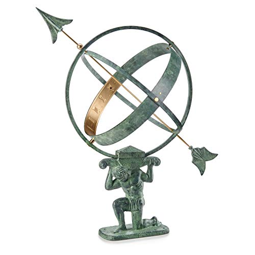 Good Directions SD100V1 28' Verdigris Atlas Armillary Sundial, Vertigris