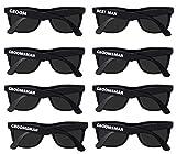 Bachelor Party Supplies - Bulk Wedding Sunglasses for Team Groom. The Groom, Best Man, Groomsman Bachelor Party Favor (8)
