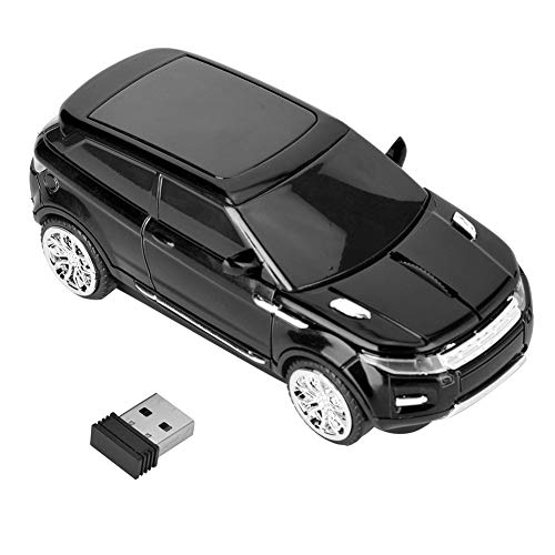 Bewinner USB Optical Mouse Wireless Optical Mouse 3D for Range Rover Car-shaped Computer Laptop Wireless Mice PC+ Receiver, PC Gaming Mice Wireless Mobile Mouse(Black)