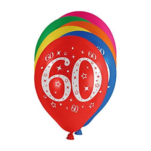 Preis am Stiel Luftballons Zahl 60