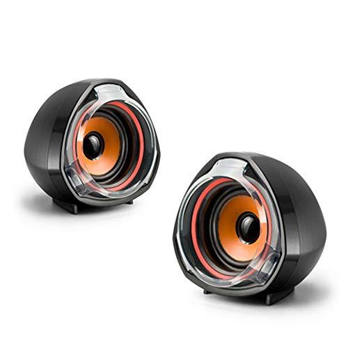ZSTY luidspreker voor computer, multimedia, laptop, 2.0, stereo-systeem, USB-kabel, stroomvoorziening voor desktop, 3,5 mm, AUX-aansluiting, bruikbaar