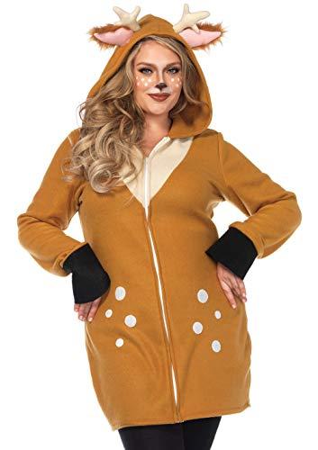 Leg Avenue Women's Costume, Brown/Khaki, 1X / 2X