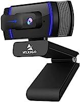 2021 AutoFocus 1080p Webcam with Stereo Microphone and Privacy Cover, NexiGo FHD USB Web Camera, for Streaming Online...