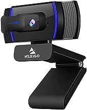 NexiGo AutoFocus 1080p Webcam with Stereo Microphone, Privacy Cover and Software Control, N930AF FHD USB Web Camera, Compatible with Zoom/Skype/Teams/Webex, PC Mac Desktop