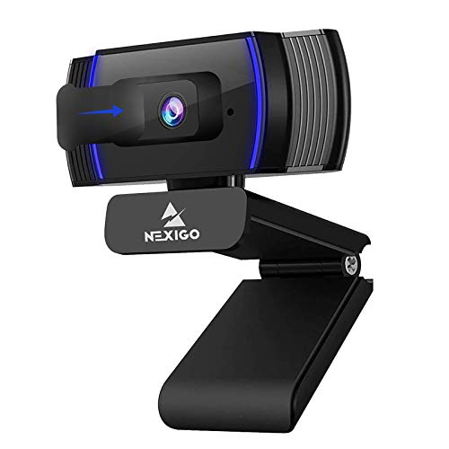NexiGo AutoFocus 1080p Webcam with Stereo Microphone and Privacy Cover, N930AF FHD USB Web Camera, for Streaming Online Class, Compatible with Zoom/Skype/Facetime/Teams, PC Mac Laptop Desktop