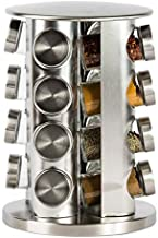 Spice Jar,Revolving Countertop Spice Rack Stainless Steel Seasoning Storage Organisation,Spice Carousel Tower for Kitchen ...