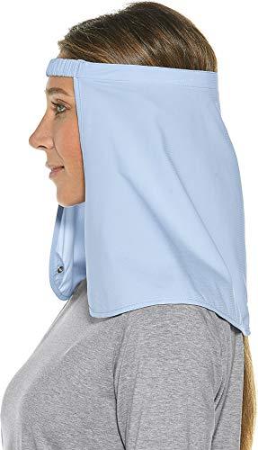 Coolibar UPF 50+ Trailhead Hat Drape - Sun Protective (Large/XX-Large- Light Blue)