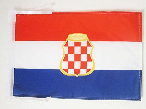 AZ FLAG Flagge KROATISCHE Republik HERCEG-Bosna 1991-1994 45x30cm mit Kordel - HR HB Fahne 30 x 45 cm - flaggen Top Qualität