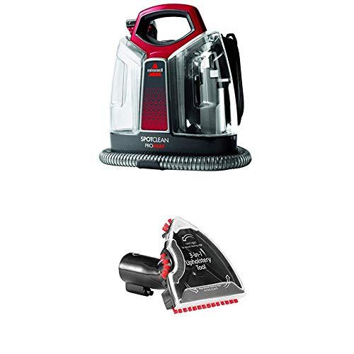BISSELL 36988 SpotClean ProHeat Flecken-Reinigungsgerät + 3-in-1 Stufen-und Polster-Aufsatz für alle Bissell Flecken-und Teppichreinigungsgeräte