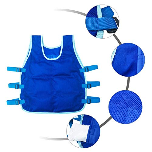Wendysy Cooling Vest Ice Vest Outdoor Riding Fishing Cooling Vest for Men and Women Ice Cooling Vest for Sport Motorcycle Cooking