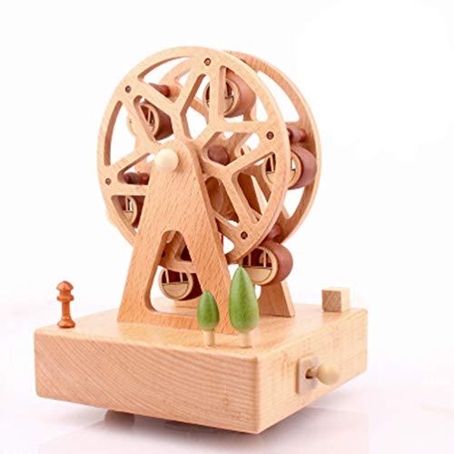 Sólido de madera cajas de música Carrusel caja de música caja Musical de tiovivo Navidad regalos de cumpleaños para niños bebé toddle