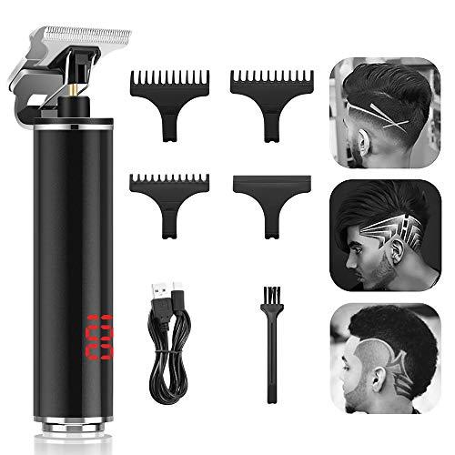 Easy Trim Rasierer, Haarschneidemaschine Pro Li T-Klingenschneider Elektrischer Detailer Haarschneider, 0mm Haartrimmer Konturenschneider für Männer, LCD-Anzeige T-Blade kabelloser Trimmer Grooming