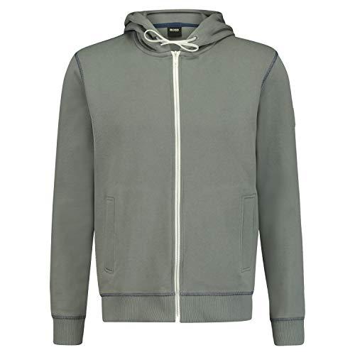 Boss Casual Sweatjacke 'Z Ray' mit Kapuze grau (038 Medium Grey) XL