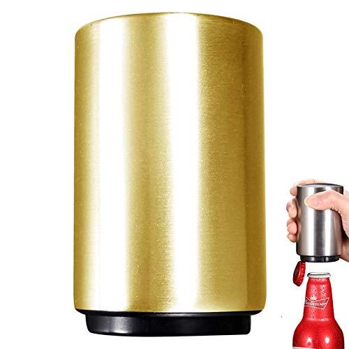 Abridor Automático de Botellas Magnético,Abridor de Botellas de Acero Inoxidable,Abridor de Tapas de Cerveza,Artilugio de Cocina,para Bar,Fiesta,Barbacoa,Camping,Oro