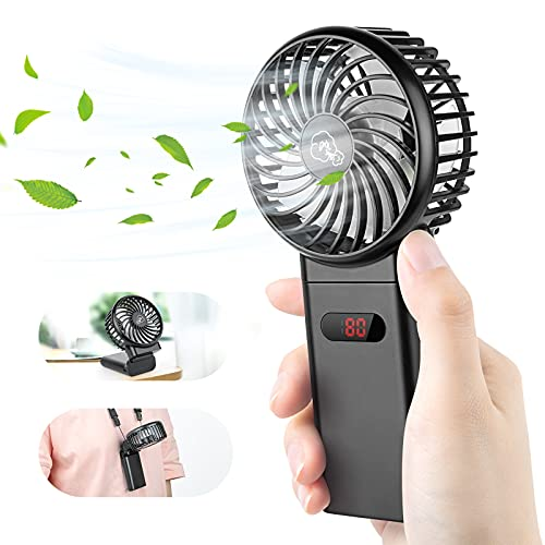 Ventilatore Portatile - 4000mAh Ventilatore USB 4-15H, Mini Ventilatore 4 Velocità