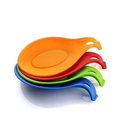 iNeibo Kitchen Silicone Spoon Rest, Flexible Almond-Shaped, Silicone Kitchen Utensil Rest Ladle...