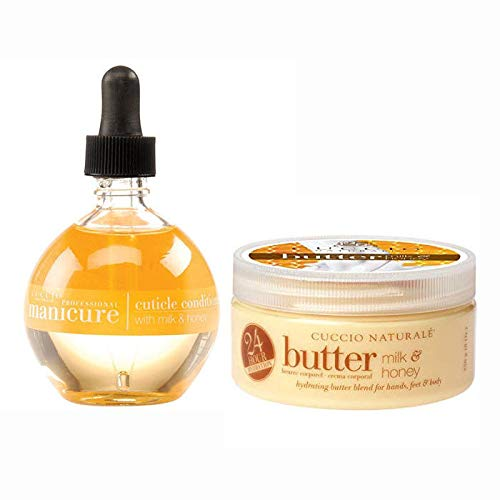 Cuccio Cuticle Oil Milk & Honey 2.5 oz + Milk & Honey Butter Blend 1.5 oz