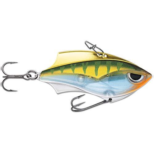 Rapala Rap-V Blade 6 cm 14 g – Cebo con vibración para perca, lucioperca y lucio, cebo artificial para pesca de peces depredadores, cebo para pesca spinning, color: perca amarilla